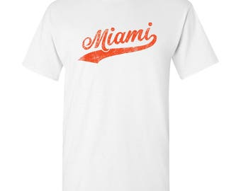 Miami City Script T-Shirt - White