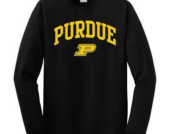 Purdue Boilermakers Arch Logo Long Sleeve T-Shirt - Black