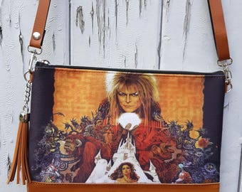 Labyrinth Handbag - Movie David Bowie Goblin Fantasy Film Bag Brown