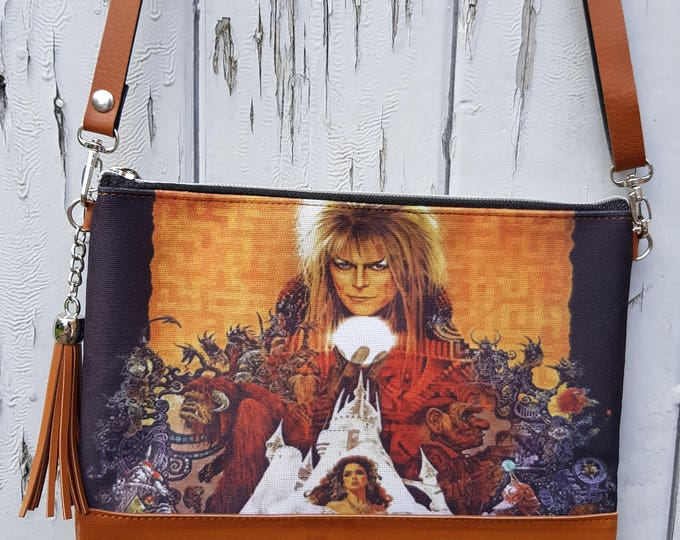 Labyrinth Handbag - Movie David Bowie Goblin Fantasy Film Bag Brown