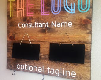 5-7 DAY TURNAROUND - XL Customizable Consultant Sign feat. chalkboards and hooks for displaying products