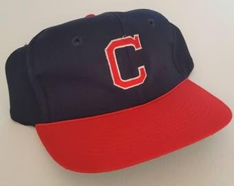 Vintage Cleveland Indians Twins Snapback Hat  MLB VTG