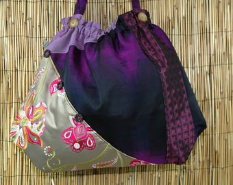 Fabric Patchwork Collection Leila shoulder tote bag
