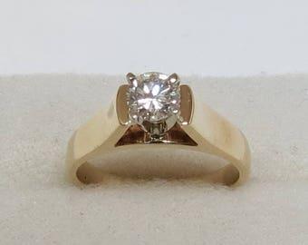 Vintage 14K Ladies Diamond Engagement Ring