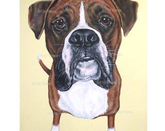 Boxer Painting - Boxer Art - Boxer Portrait - Boxer Dog - Original Painting - Pet Portrait - 16x20