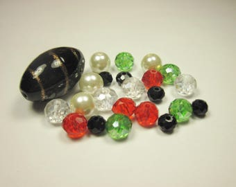 23 glass beads in assorted colors (BC51)
