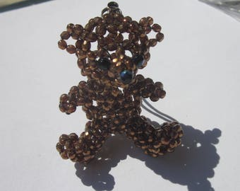 charm Keychain in the shape of Teddy bear glass 5 cm (15)