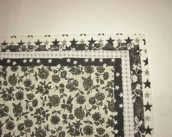 5 different patterns (9) patchwork fabric