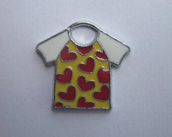 1 charm in the shape of Sweatshirt metal 2 cm (ER3)-