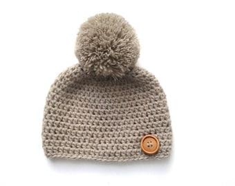 baby boy hat, wool baby Hat