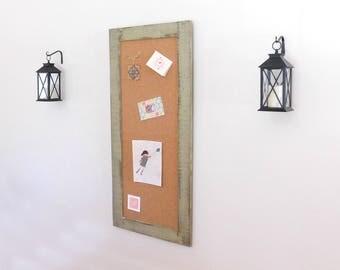 office corkboard. long skinny framed corkboard memo board in sage green 24 x 54 office corkboard