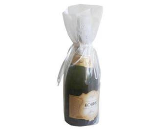 White Bottle / Wine Organza Gift Bag