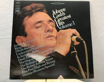 "Johnny Cash - ""Johnny Cash's Greatest Hits Volume 1"" vinyl record"