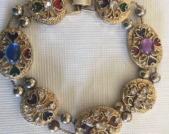 Vintage Slide Charm Bracelet