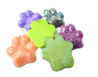 Mutli Color Paw Print Necklace