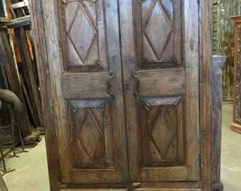 Antique Cabinet Chest Eclectic Furniture Armoire with drawers, Spanish Decor NEW Shipment