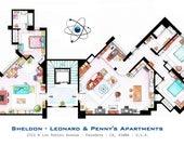 Sheldon Leonard + apartamentos de Penny de BIG BANG THEORY