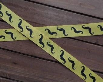 Yellow mustache ribbon - 3 yards
