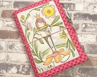 Fabric Fauxdori -READY TO SHIP - Fabric Travelers Notebook - A5 Size - Fauxdori - May Designs