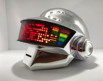 DP  Chrome full led helmet includes gloves stand and necklace