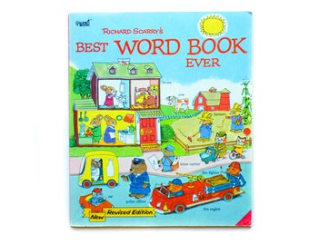 Richard Scarry's Best Word Book Ever   1980   Vintage children's book   Richard Scarry   Golden Book   Paperback