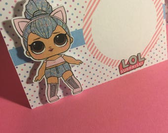 LOL Surprise Dolls Tent Cards or Place Holder Cards Qty: 10