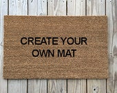 Custom Doormat : funny Doormats, Unique Doormats, Cute welcome mat, home and living, housewarming gifts, home décor, handmade, trendy