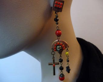 Rock the red and black earrings