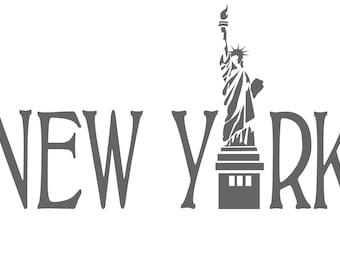 New York SVG cut file