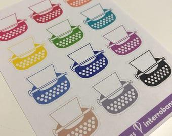 A32 - Typewriter Planner Stickers