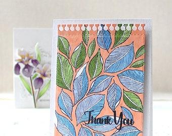 Handmade Card, Thank You, Foliage, Pattern, Greeting Card