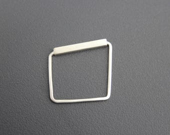 Movement, Sterling Silver, Geometric Ring