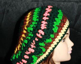 beret, crochet;  mesh, beautiful wedding colors