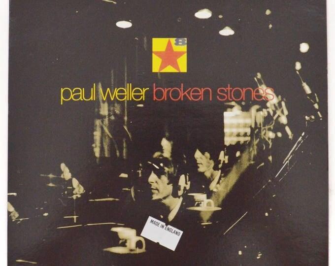 Vintage 90s Paul Weller Broken Stones Mod Rock UK Import 45 RPM Single Record Vinyl