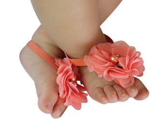 Barefoot Sandals, Little Girls Shoes, Sandals for Newborn, baby girl shoes, barefoot baby sandals, newborn sandals, baby barefoot sandal