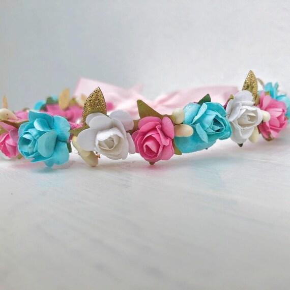 Spring Baby Crown, Bridesmaid Flower Wreath, Wedding Crown, Flowers Wedding Girls, Woodland Halo, Pink Headbands, Newborn Crown