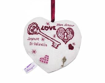 The key to Valentine's day - Valentine's day - love - cross stitch pattern