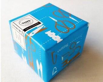 Hoppy Mini Box Map Series 4713077972410 Stationery Feast Scissors on Blue