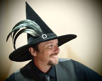 """Wizard Hat """"Poe"""" One of a Kind"""