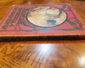Antique Book - Alice's Adventures in Wonderland - The Childrens Red Books - 1908