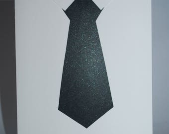 "Handmade ""Men's Tie"" Greeting Card"