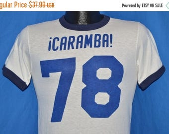 ON SALE 70s 1978 Caramba Ringer Jersey t-shirt Extra Small
