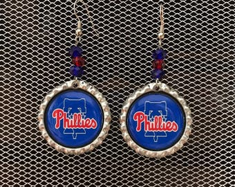 Philadelphia  Phillies Bottle Cap Earrings