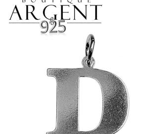 Charm letter D initial 925 sterling silver initials