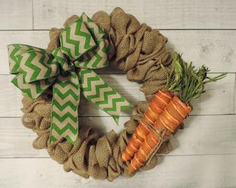 Easter Carrot Burlap Wreath