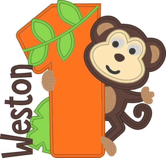SAMPLE SALE, Monkey Birthday Shirt - Safari Birthday - Jungle Birthday - Zoo Birthday -