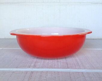 Vintage Pyrex mixing bowl retro Brown Woodland cinderella