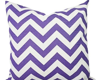 15% OFF SALE Two Purple Chevron Pillow Covers - Decorative Pillow Cover - Purple Throw Pillow - Purple Pillow - Chevron Pillow - Dorm Decor