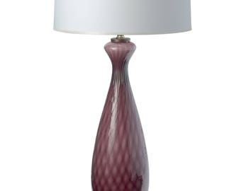 Vintage Purple Murano Glass Table Lamp, Shade Not Included