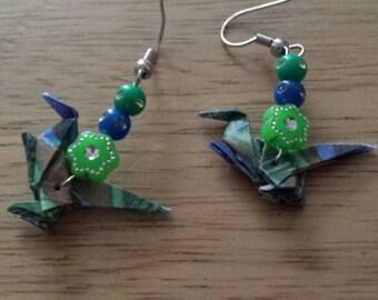Origami dinosaur raptor earrings- various designs